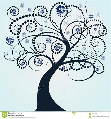 abstract vector winter tree design abstract vector winter tree de stock vector illustration of decor circle 2726218