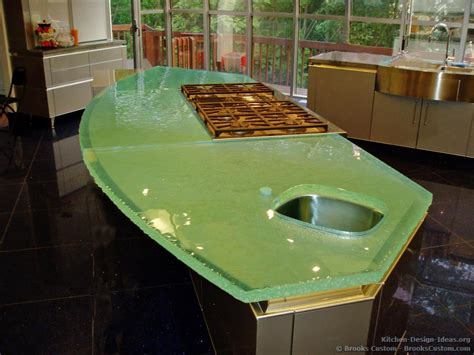 Glass Kitchen Countertops Custom Portfolio Of Kitchens Countertops