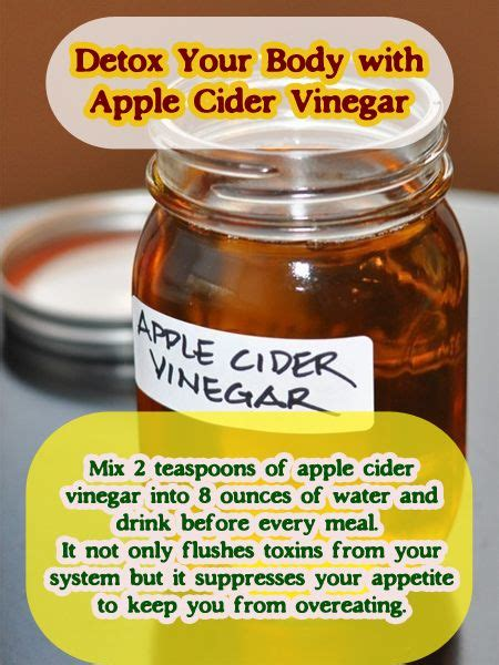 How To Detox With Apple Cider Vinegar by 15 Reasons To Use Apple Cider Vinegar Every Day Apple