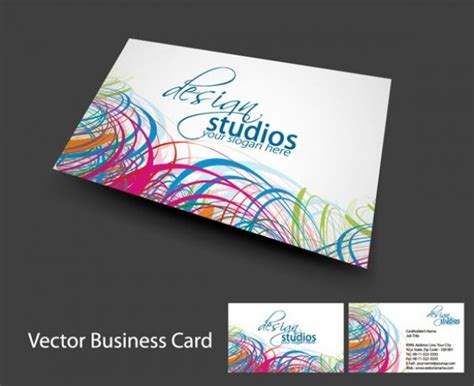 abstract business cards templates free cool lines abstract business card template welovesolo