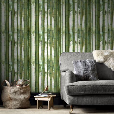 Tapisserie Bambou by Papier Peint Intiss 233 Bamboo Vert Leroy Merlin