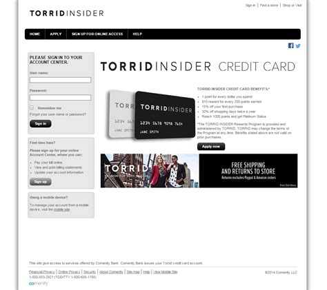 make a credit card torrid credit card login make a payment