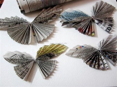 New Paper Crafts - newspaper craft upcycle