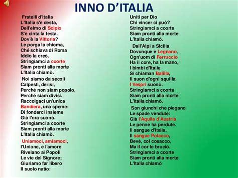testo inno italia ufficiale l inno nazionale sar 224 fratelli d italia
