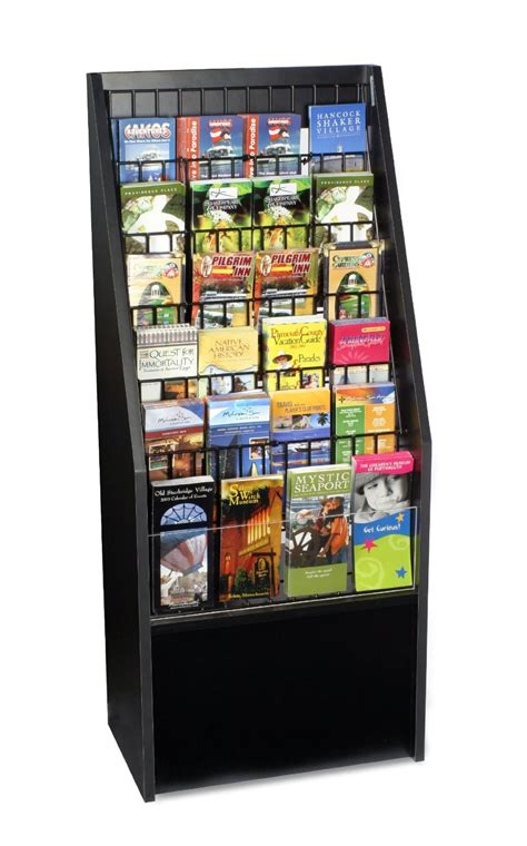 literature rack travel brochure leaflet holder coupon