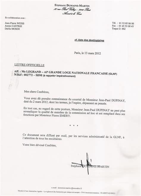 Présentation De La Lettre Officielle Retour De B 226 Ton Le Du Myosotis Neuilly Bineau