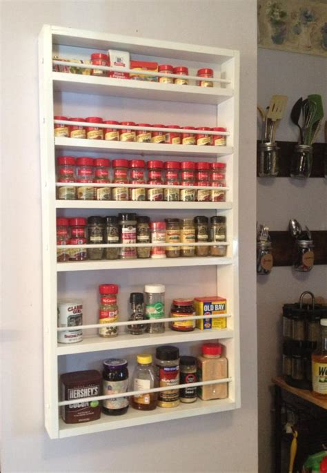 white spice rack diy projects