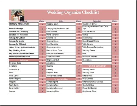 Wedding To Do List Template Midway Media Wedding Checklist Template