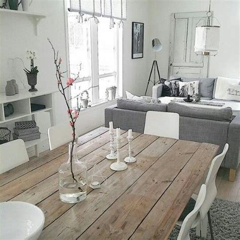 sala tono gris mesa comedor de madera home comedores