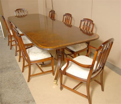 Pedestal Dining Table And Chairs Regency Dining Set Pedestal Table And Hepplewhite Chairs