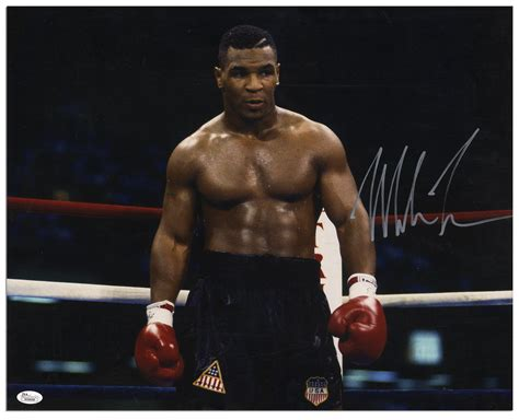 Mike Tyson To Be A by Lot Detail Mike Tyson Signed Photo Poster 20 X 16