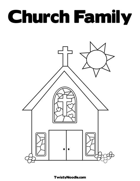 easy church coloring pages church 7 buildings and architecture printable