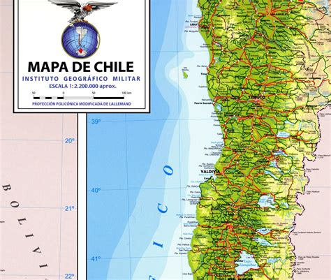 physical map of chile mapa de chile
