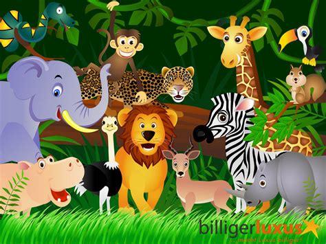 Banner Safari Hewan tapete kinder dschungel tiere 360 x 254 cm