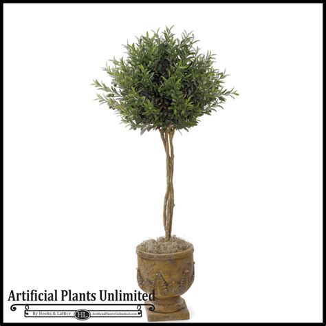 Artificial Topiaries - 4 5 artificial olive topiary tree indoor