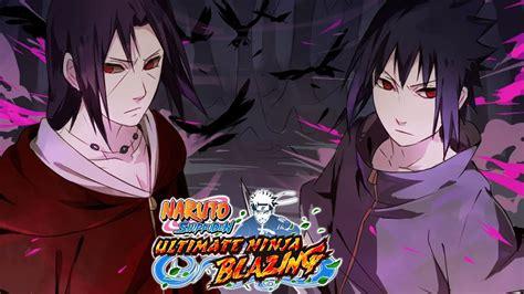 edo itachi ems sasuke banner summons naruto ultimate ninja blazing jp youtube