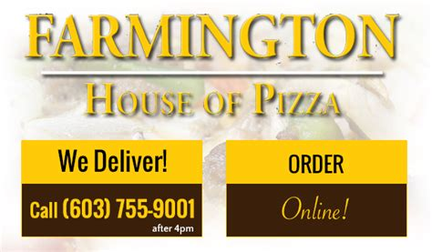 farmington house of pizza farmington house of pizza takeout restaurant pizza