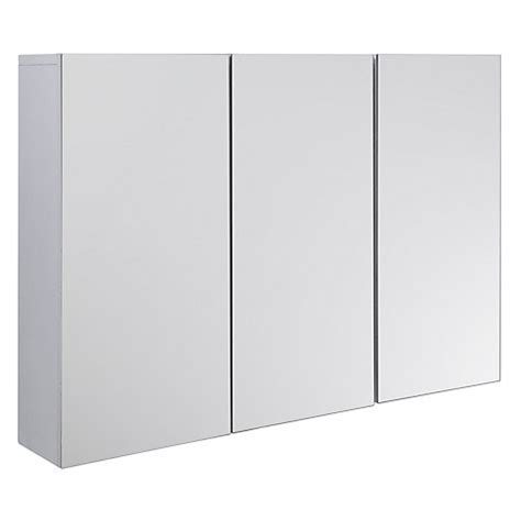 triple mirrored bathroom cabinet buy john lewis gloss triple mirrored cabinet white john