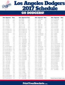 dodgers home schedule printable los angeles dodgers baseball schedule 2017