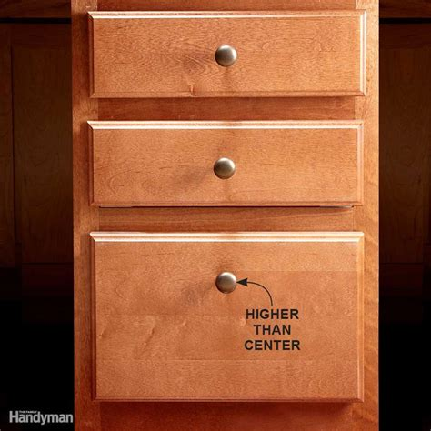 installing drawers in cabinets how to install cabinet hardware the family handyman