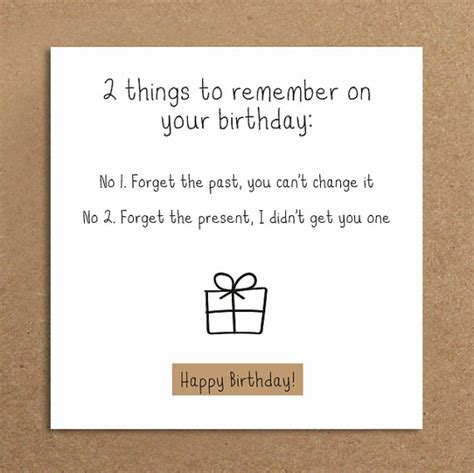 Things To Write On A 21st Birthday Card Handmade Funny Birthday Card Forget The By
