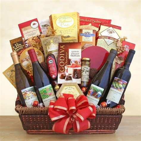 california splendor gift basket wine shopping mall
