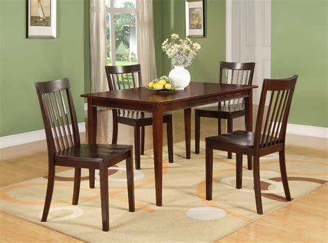 cherry wood kitchen table d6660 series 5 pc set cherry wood dining room kitchen table and 4 chairs