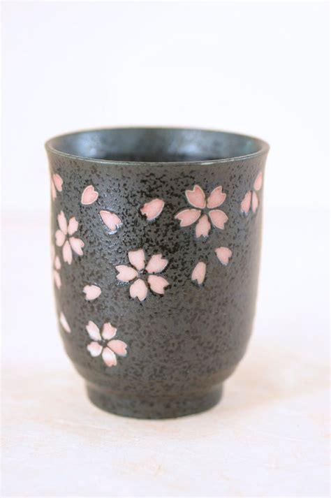 Japan Home Decor by Vintage Ceramic Tea Cup Japanese Cherry Blossom Sakura Motif