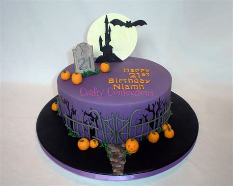halloween themed cakes halloween themed 21st cake flickr photo sharing