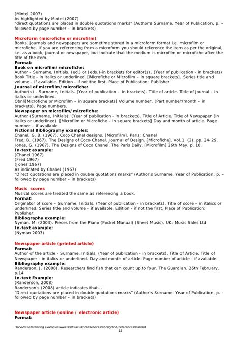harvard style referencing template annotated bibliography harvard format