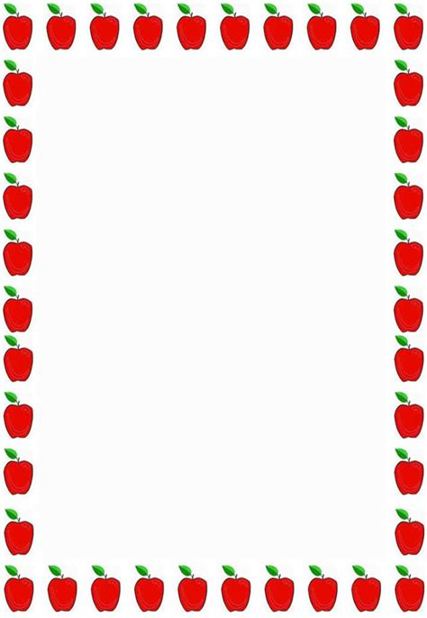 appreciation letter borders apple borders for teachers clipart panda free clipart