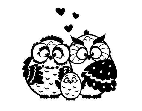 imagenes para colorear buho dibujo de familia b 250 ho para colorear dibujos net