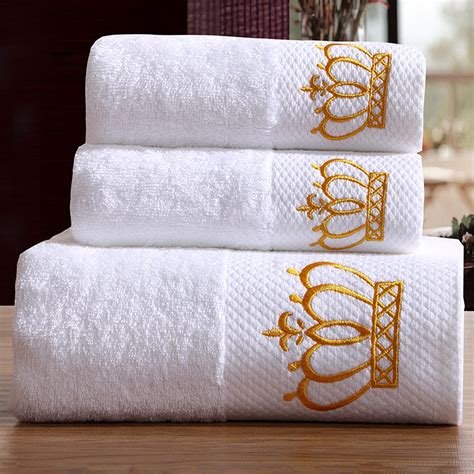 Handuk Merk Towel One 5 hotel luxury embroidery white bath towel set 100 cotton large towel brand
