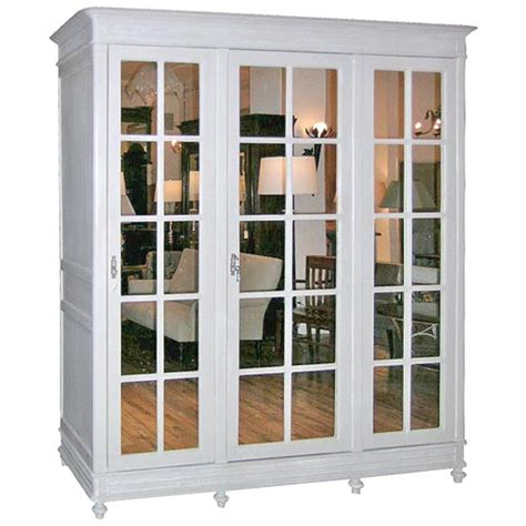 Mirrored Wardrobe Armoire by Mirrored Armoire At 1stdibs