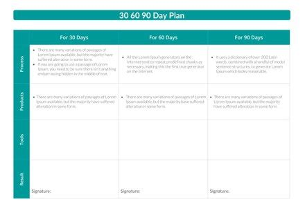 30 60 90 day plan template in microsoft word   template.net