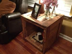 End table made from pallets wood pallet furniture diy