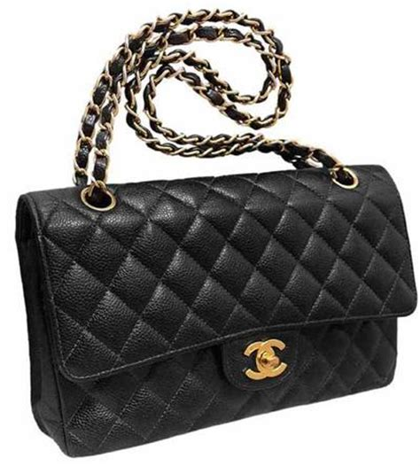 Chanel 255 Classic by Chanel Black Quilted Caviar Classic 255 Medium Flap