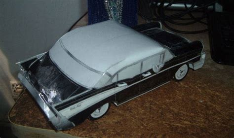 new paper craft 1957 chevrolet bel air paper car free