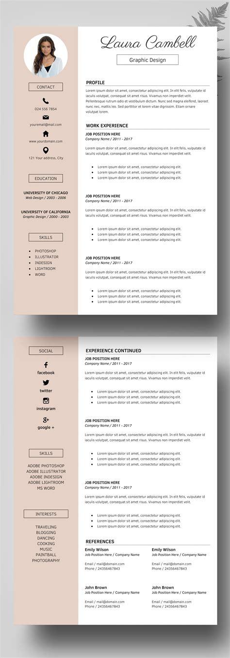 free contemporary resume templates free modern resume template 4