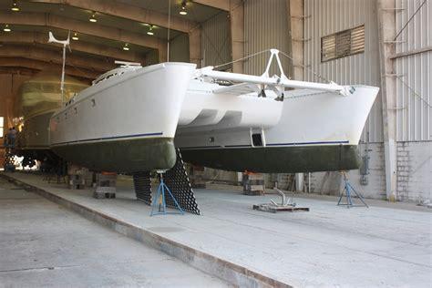 catamaran project hull for sale fresh paint for this 50 sailing catamaran quot papillon