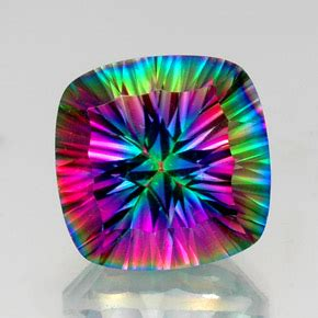 mystic quartz 16ct cushion from brazil gemstone