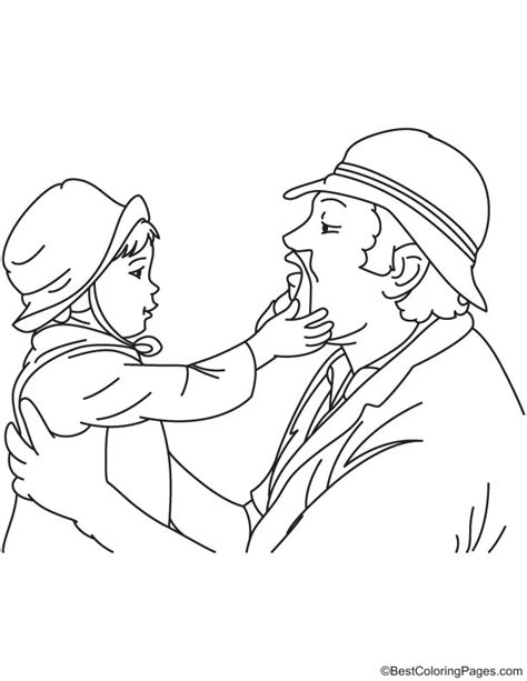 beard coloring goatee coloring pages