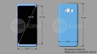 leaked drawings show samsung galaxy s8 with a rear mounted