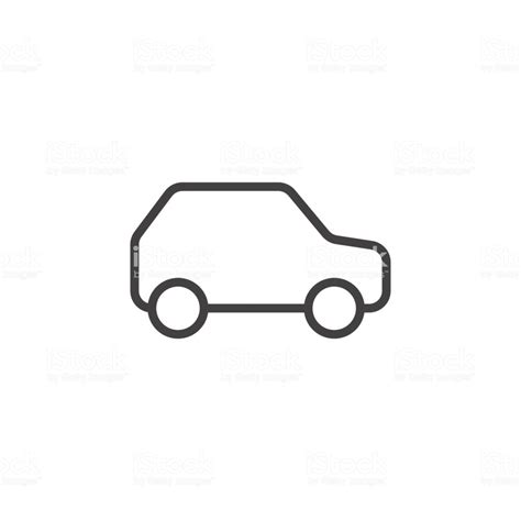 Auto Zeichen by Auto Kfz Liniensymbol Umriss Vektor Zeichen Linearen Stil
