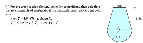 centroid of at section for the cross section shown locate the centroid a