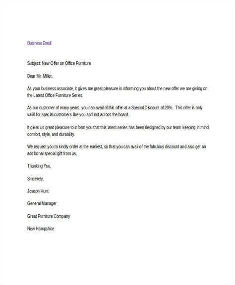 email template for business business email sle letters free sle letters