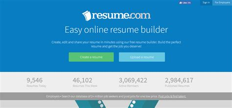 Resume Builder Websites Free by 10 Best Free Resume Builder Websites Best Themes