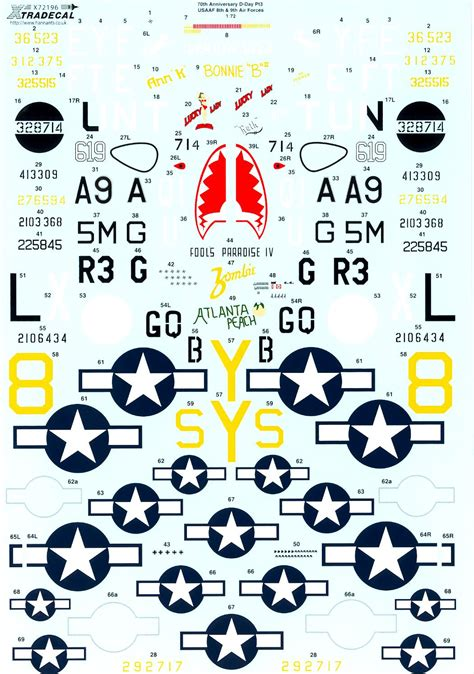 Xtra Decals 1/72 D-DAY 70th ANNIVERSARY USAAF 8th & 9th ... Xtra Decals