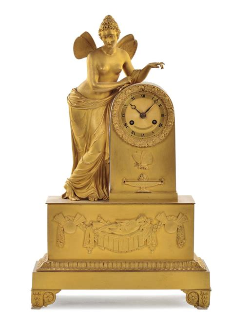 pendola da tavolo pendola da tavolo impero in bronzo dorato francia xix