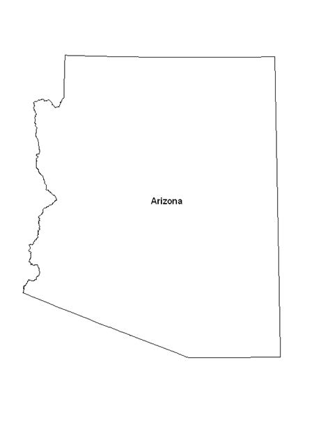 printable map arizona eprintablecalendars com calendar template 2016